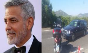Βίντεο σοκ: Καρέ – καρέ η στιγμή που ο George Clooney εκτινάσσεται στον αέρα μετά από τροχαίο