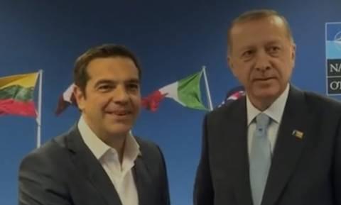 Οι πρώτες εικόνες από τη συνάντηση Τσίπρα - Ερντογάν (vid)