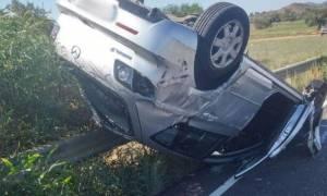 Σοβαρό τροχαίο: Αναποδογύρισε αυτοκίνητο με δύο νεαρά κορίτσια (Pics)