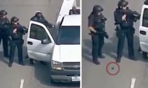 Μυστηριώδες πλάσμα βγαίνει από το ΠΟΔΙ αστυνομικού και προκαλεί πανικό! (video)
