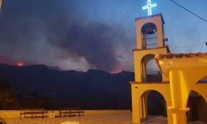 Φωτιά τώρα: Πυρκαγιά στο Ζεμενό Κορινθίας κοντά στο Ξυλόκαστρο (pics)