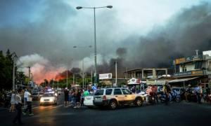 Προσοχή! Κυκλοφοριακές ρυθμίσεις στην ευρύτερη περιοχή της Ραφήνας λόγω της μεγάλης πυρκαγιάς