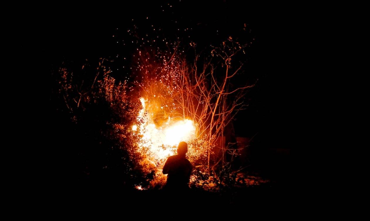 Φωτιά Κόρινθος: Ολονύχτια μάχη με τις φλόγες σε Ζεμενό και Θροφάρι