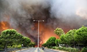 Αστεροσκοπείο για πυρκαγιά στην Αττική: Οι ριπές του ανέμου τη Δευτέρα έφτασαν τα 120 χλμ/ώρα