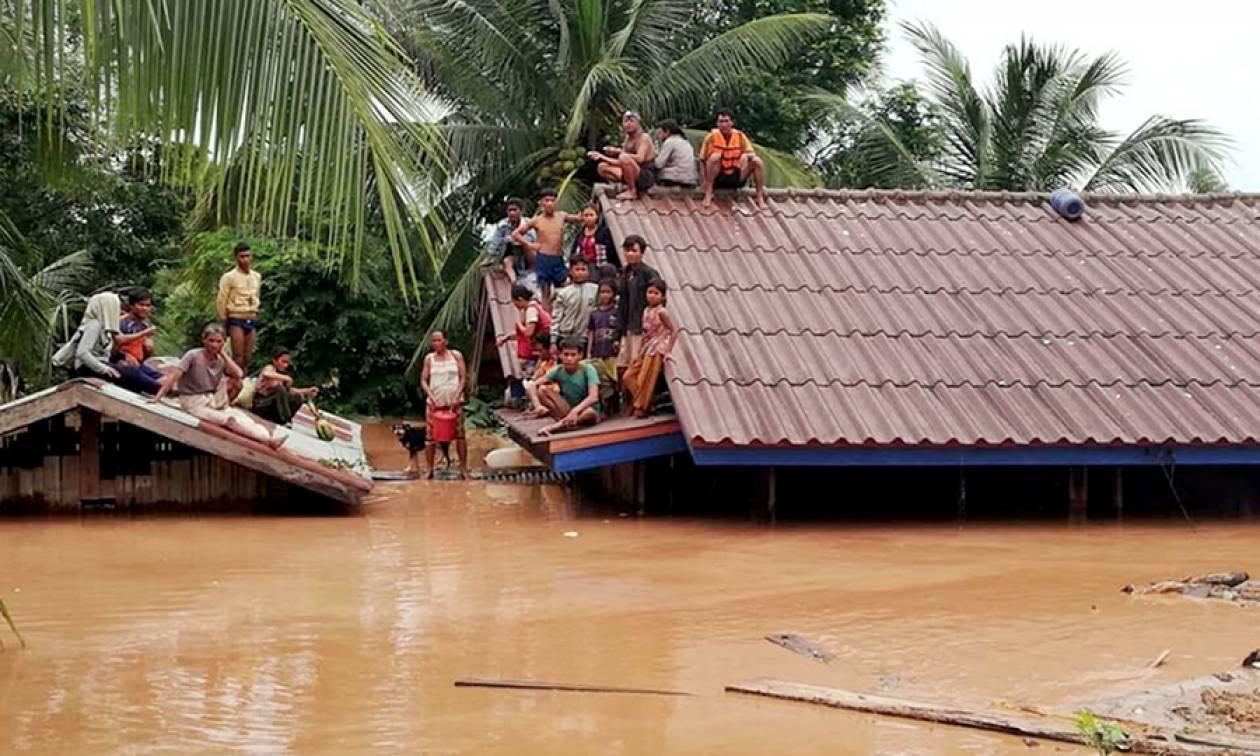 Δραματικές εικόνες στο Λάος: Κατέρρευσε φράγμα - Χωριά βυθίστηκαν κάτω από το νερό (Pics+Vid)