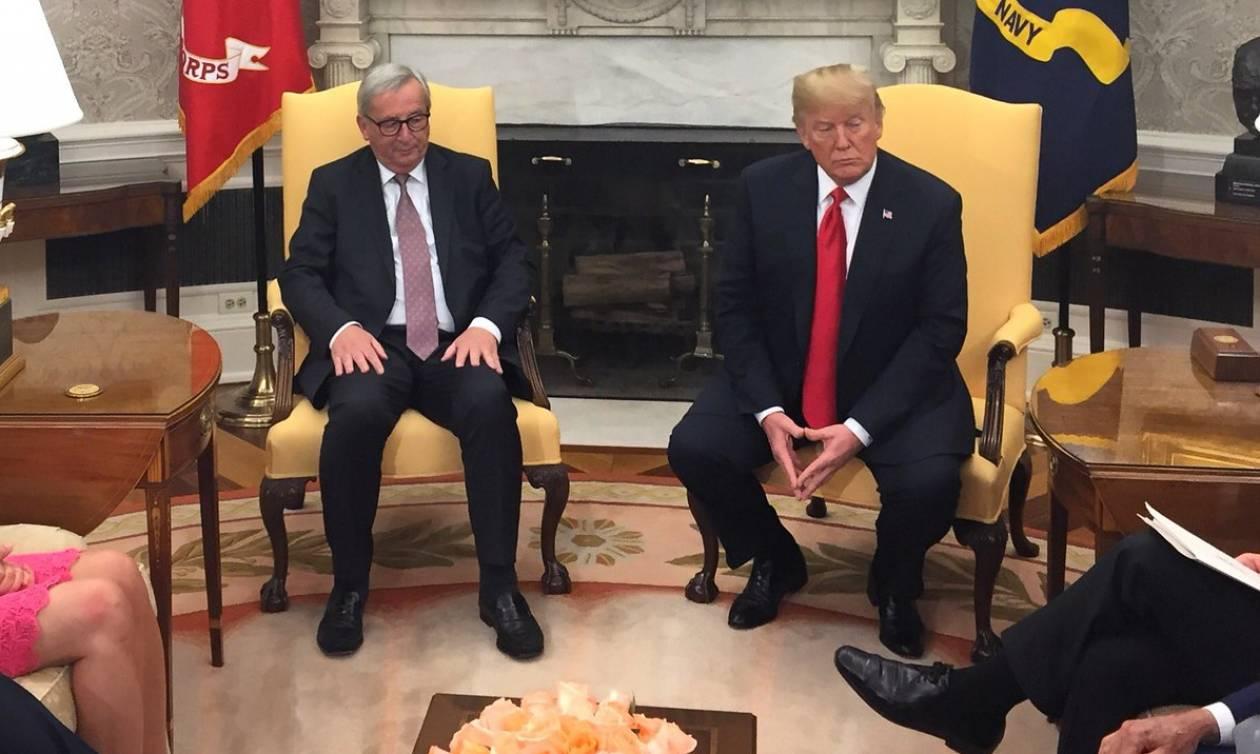 Διαπραγματεύσεις Τραμπ - Γιούνκερ: «Είμαστε σύμμαχοι, όχι εχθροί»