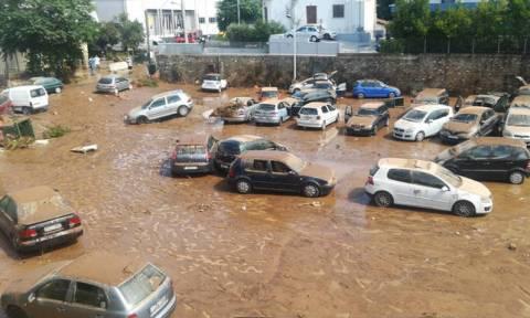 После пожаров Афины затопило в результате сильных ливней