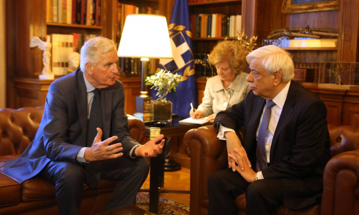 Attica fires and EU Commission solidarity dominate Pavlopoulos-Barnier meeting