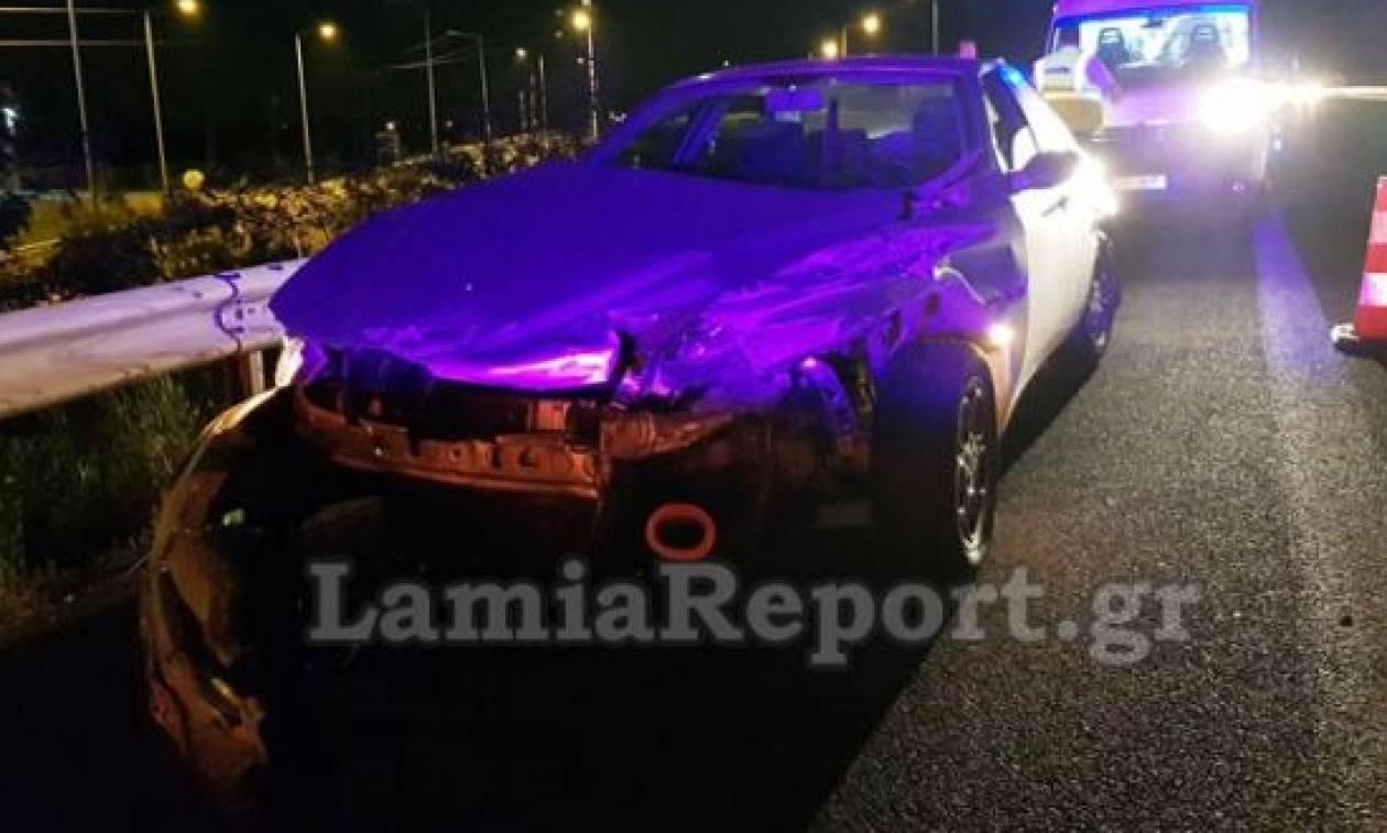 Λαμία: Αυτοκίνητο έφερε «σβούρες» στην Εθνική Οδό