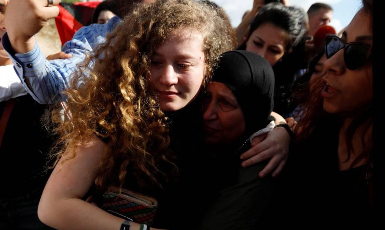 Άχεντ Ταμίμι: «Η αντίσταση συνεχίζεται» - Αφέθηκε ελεύθερη μετά από οκτώ μήνες