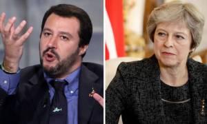 Brexit: Ο Σαλβίνι συμβουλεύει την Μέι να τηρήσει σκληρή στάση στις διαπραγματεύσεις