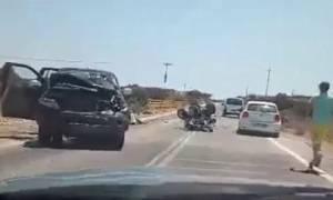 Ρόδος: Μοιραίες διακοπές για ζευγάρι Ιταλών τουριστών - Σκοτώθηκαν σε τροχαίο με «γουρούνα» (vid)