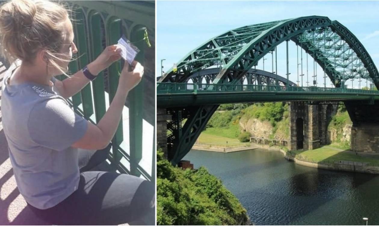 Σεβασμός σε αυτή τη 18χρονη: Γιατί αφήνει μηνύματα πάνω σε γέφυρες;