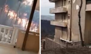 Βίντεο – ντοκουμέντο: Η επόμενη μέρα στο σπίτι του ανθρώπου που τον κύκλωσε η φωτιά στο Μάτι