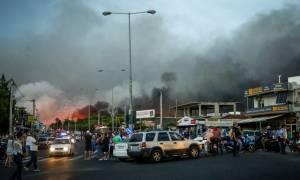 Φωτιά Μάτι: Έτσι διεκόπη η κυκλοφορία στη Μαραθώνος την ώρα της φονικής πυρκαγιάς (vid)