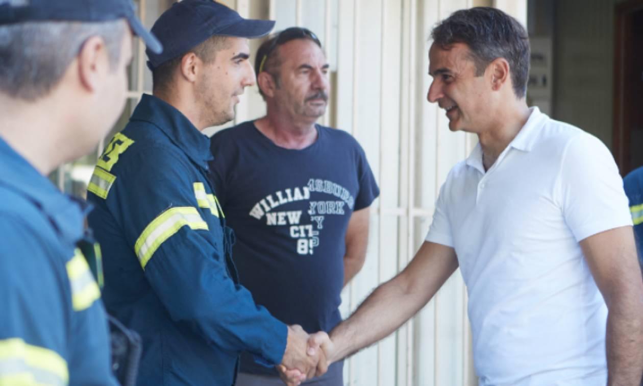 Το πυροφυλάκιο Βύρωνα επισκέφθηκε ο Κυριάκος Μητσοτάκης