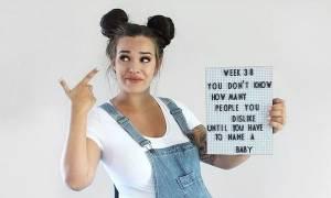 Αυτή η μαμά διακωμωδεί τις φάσεις της εγκυμοσύνης της και έχει πολύ χιούμορ (pics)