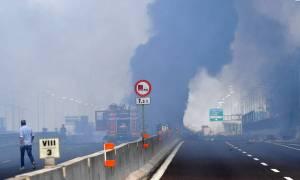 Έρευνα για τα αίτια του σοβαρού τροχαίου δυστυχήματος στην Μπολόνια (vids+pics)