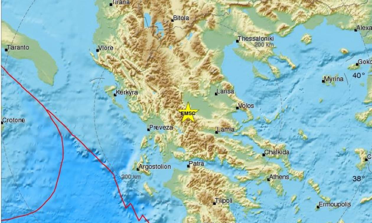 Σεισμός στα Άγραφα