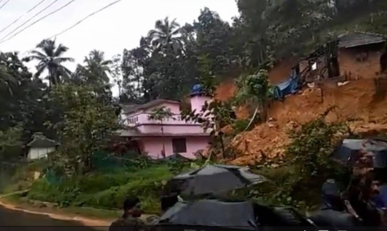 Η σοκαριστική στιγμή που κατολίσθηση παρασύρει ολόκληρα σπίτια (vid)