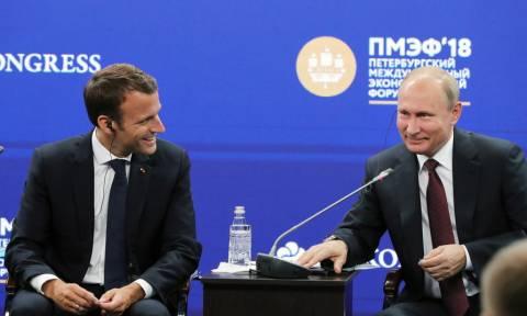 Τηλεφωνική επικοινωνία Μακρόν - Πούτιν για τη Συρία