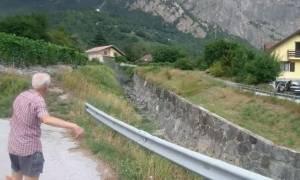 Τρομακτικό βίντεο: Η λάσπη «πνίγει» χωριό στην Ελβετία (vid)