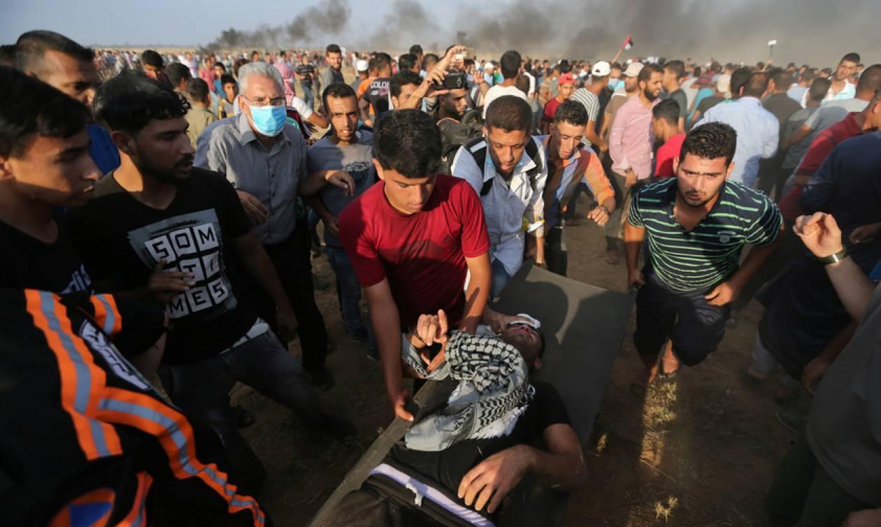 Στο αίμα βάφτηκε πάλι η Γάζα: «Κόλαση» με δύο νεκρούς και εκατοντάδες τραυματίες (Pics+Vid)
