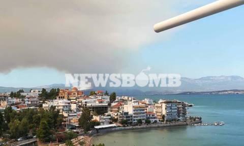 На острове Эвбея из-за пожара эвакуируют жителей нескольких поселков