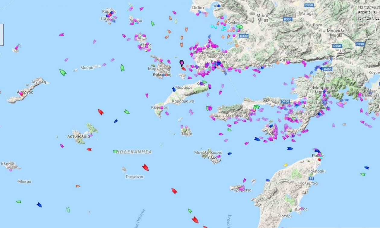 Οι Τούρκοι περικύκλωσαν το Φαρμακονήσι με καΐκια - Δείτε τους χάρτες