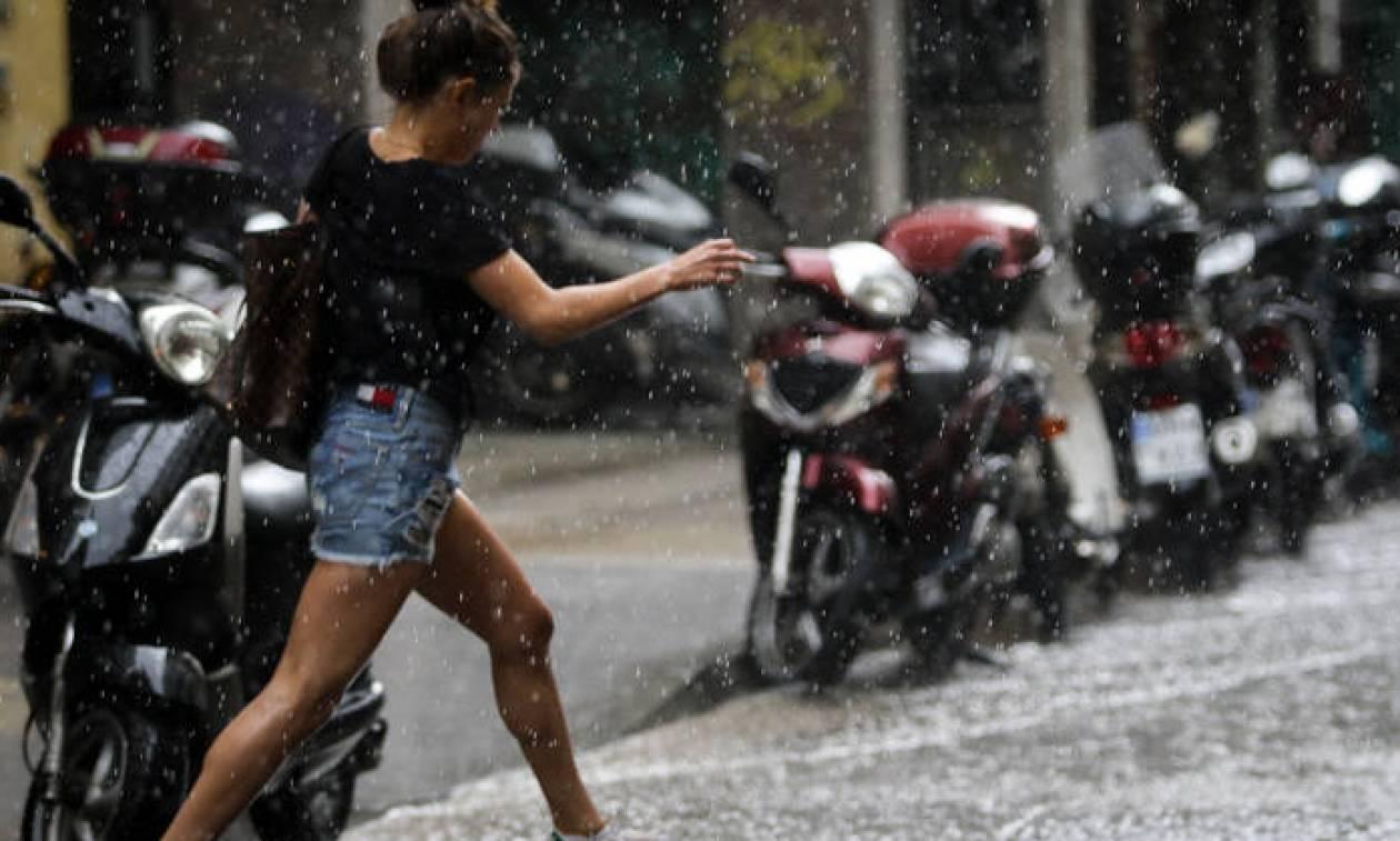 Καιρός: Σε ισχύ το έκτακτο δελτίο επιδείνωσης – Καταιγίδες και χαλάζι την Πέμπτη (16/08)