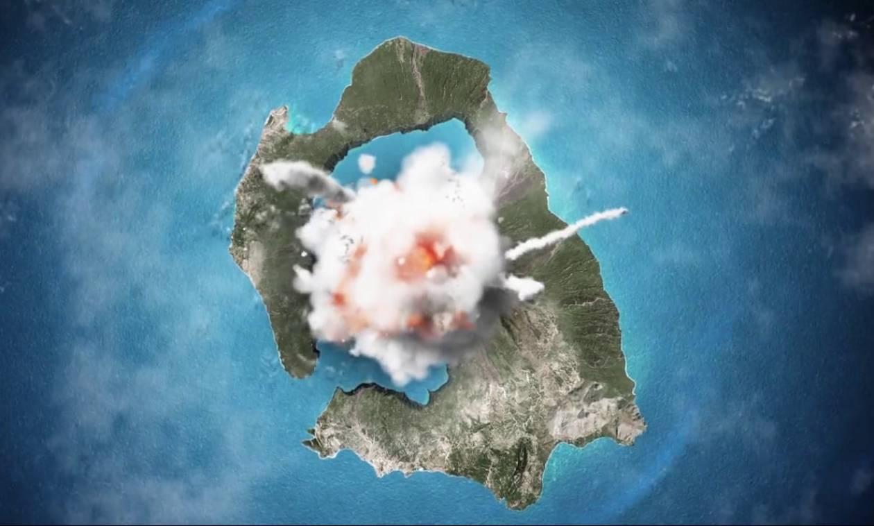 Νέες εκτιμήσεις για την τελευταία μεγάλη έκρηξη του ηφαιστείου της Σαντορίνης