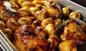 Η συνταγή της ημέρας: Κοτοπουλάκι γλασαρισμένο με κρέμα βαλσάμικο και πατάτες baby