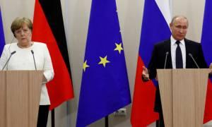 Συνάντηση Μέρκελ - Πούτιν με «γεμάτη» ατζέντα
