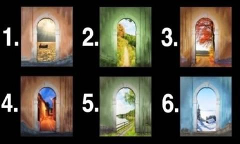 Διάλεξε μία από τις 6 πόρτες της φωτογραφίας και δες τι κρύβει πίσω της