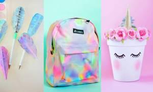 Back to school: Εμπλουτίστε το δωμάτιο του παιδιού σας φτιάχνοντας χρήσιμα σχολικά αντικείμενα (vid)