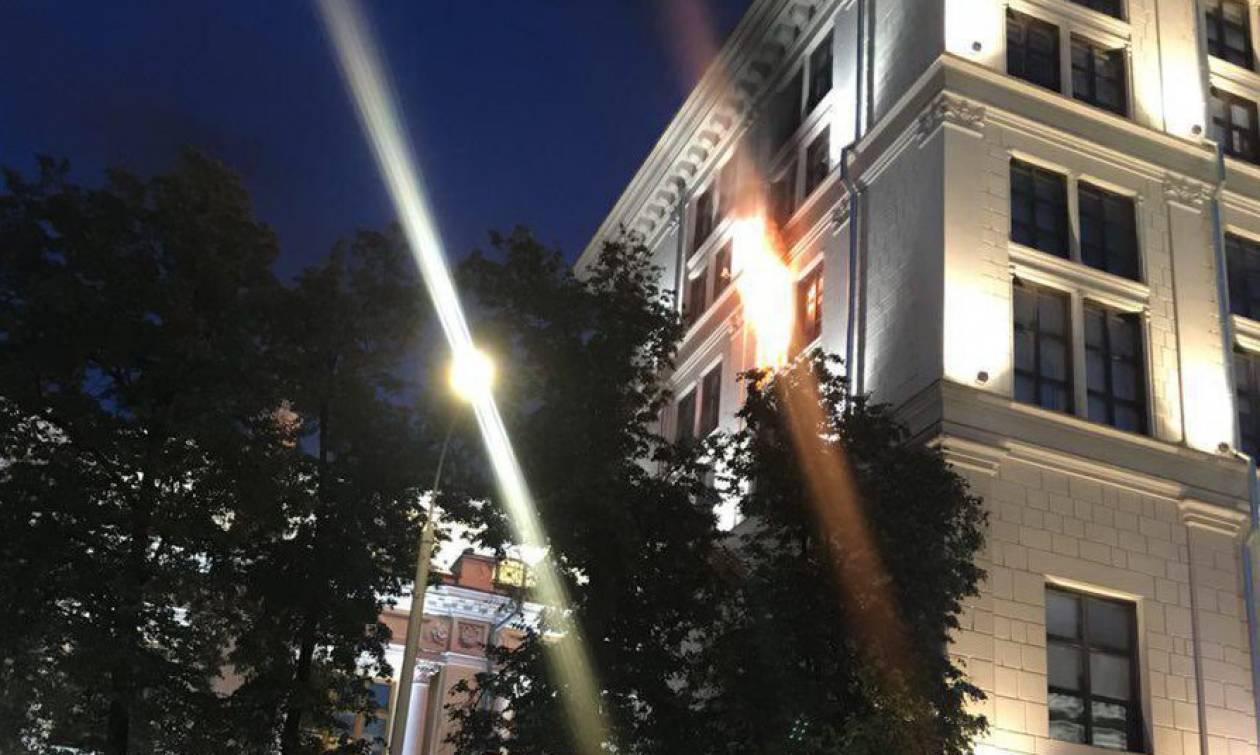 Στις φλόγες το κτήριο της Κεντρικής Τράπεζας στην Ρωσία