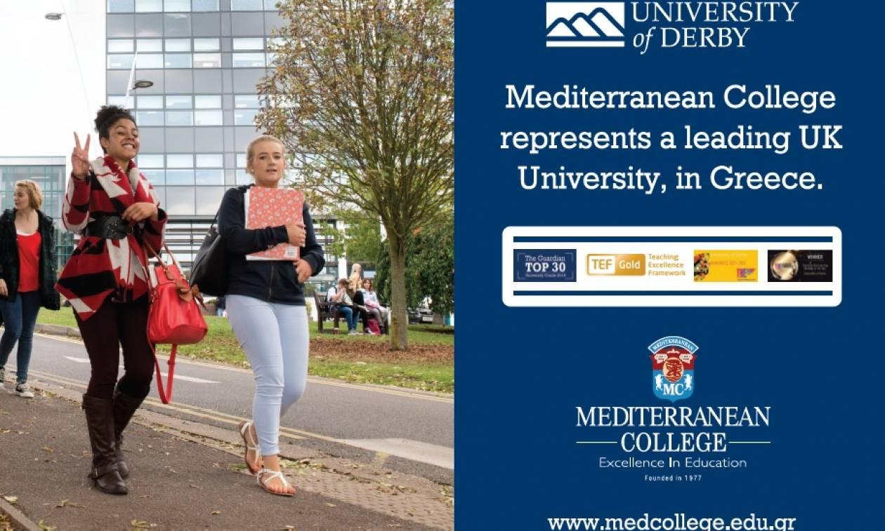 Mediterranean College: Αναγνωρισμένες σπουδές  στο καλύτερο Βρετανικό Πανεπιστήμιο, στην Ελλάδα