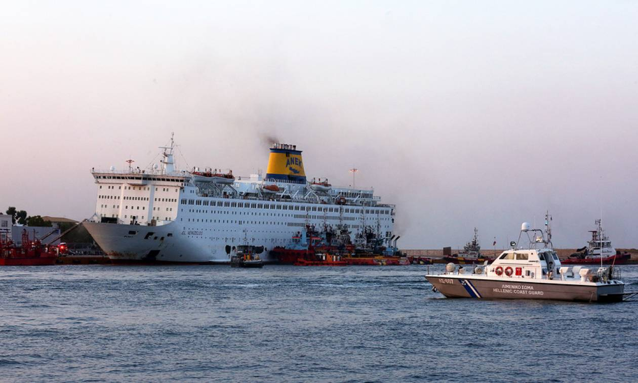 Ολονύχτιο «θρίλερ» μεσοπέλαγα: Φωτιά στο πλοίο «Ελευθέριος Βενιζέλος» με 1.016 επιβαίνοντες