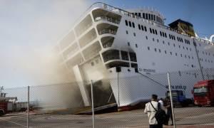 «Ελευθέριος Βενιζέλος»: Φλέγεται ακόμα το πλοίο – Συγκλονιστικά βίντεο μέσα από το γκαράζ