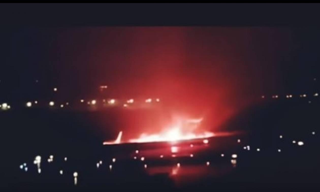 Σότσι: Η δραματική διάσωση των επιβατών από το φλεγόμενο αεροπλάνο - 18 τραυματίες (vids)
