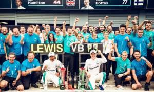 Formula 1: Ο Χάμιλτον και Mercedes χάλασαν το πάρτι της Ferrari στην Ιταλία (pics&vid)