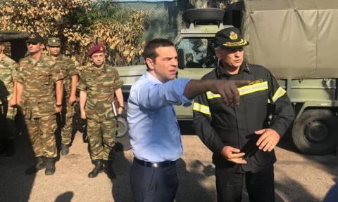 Алексис Ципрас посетил пострадавших от пожаров поселок Мати