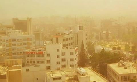 Кипр вновь накрыла песчаная буря