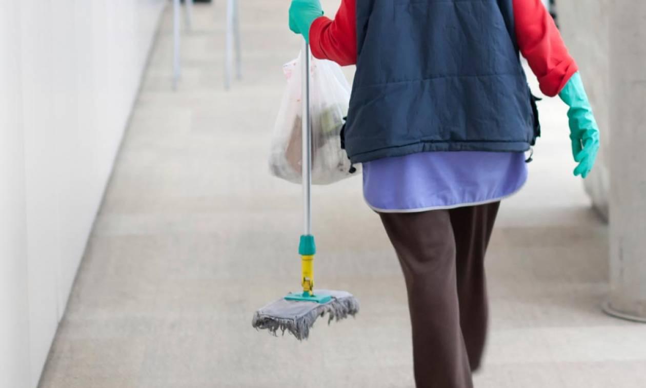 Αποτέλεσμα εικόνας για Κι όμως! Έγκυος καθαρίστρια στα κτίρια του ΟΑΕΔ είναι… ανασφάλιστη