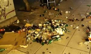 Επεισόδια Θεσσαλονίκη: Κουκουλοφόροι τα έκαναν γυαλιά καρφιά σε καφετέριες στην παραλιακή (pics)