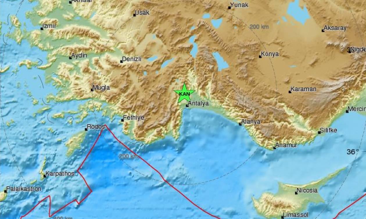 Τουρκία: Σεισμός 4,9 Ρίχτερ στην Αττάλεια
