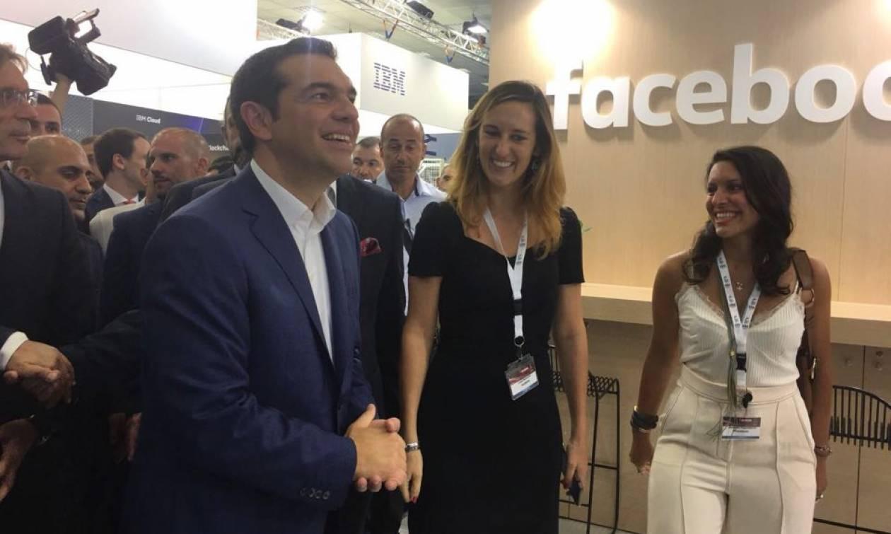 To περίπτερο του Facebook στην 83η Διεθνή Έκθεση Θεσσαλονίκης επισκέφθηκε ο Πρωθυπουργός Α.Τσίπρας
