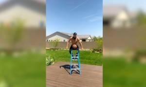 Αυτό θα πει ισορροπία - Μην το δοκιμάσετε στο σπίτι (vid)
