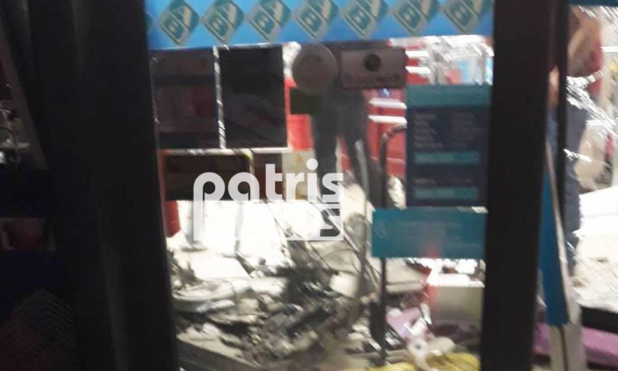 Πύργος: Ανατίναξαν ATM στην είσοδο Σούπερ Μάρκετ - Άγνωστο το ποσό που απέσπασαν
