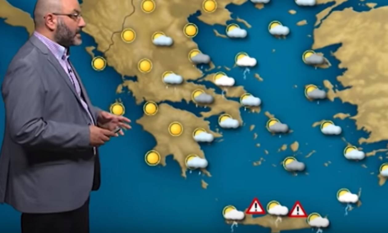 Καιρός: Πού θα σημειωθούν καταιγίδες σήμερα; Η ανάλυση του Σάκη Αρναούτογλου (video)